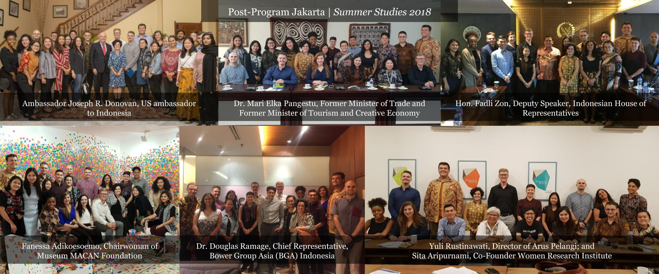 USINDO Summer Studies 2018 Post Program